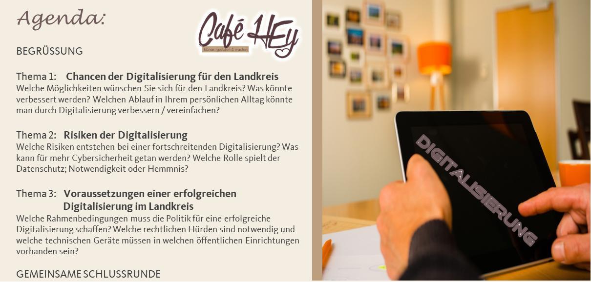 Agenda des Cafe HEy