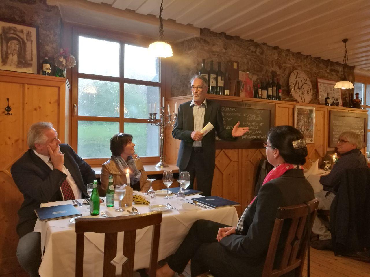 Günter Heiß und Ulf Küch waren zu Gast beim CDU-Stammtisch.