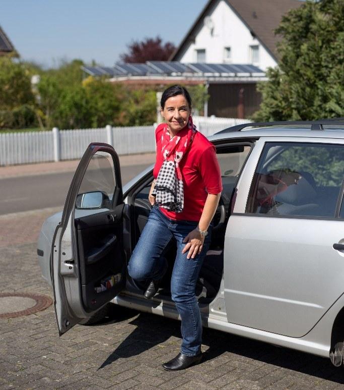 Veronika Koch kurz nach ihrer Rückkehr aus Hannover.