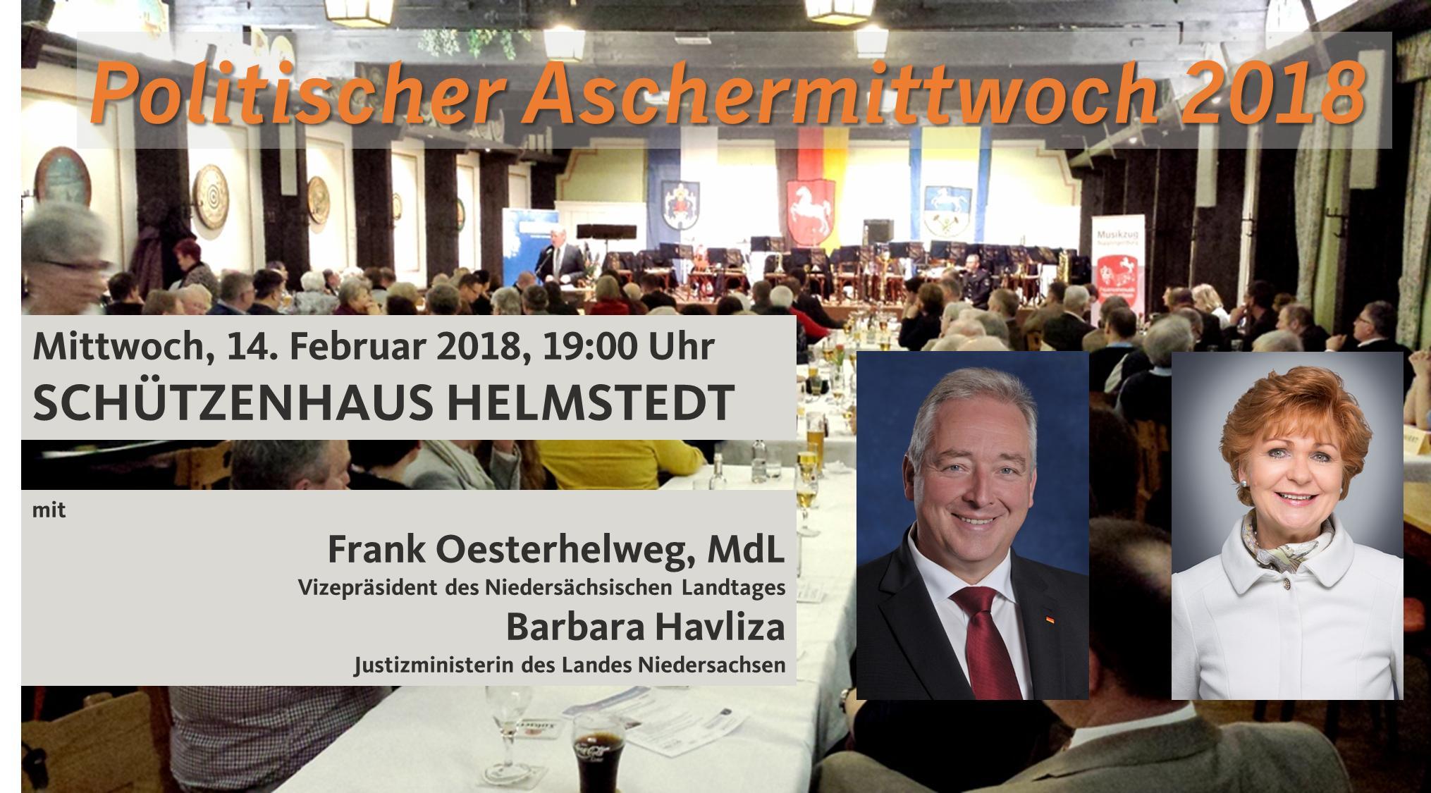Tradition im Landkreis Helmstedt - der Politische Aschermittwoch im Schützenhaus