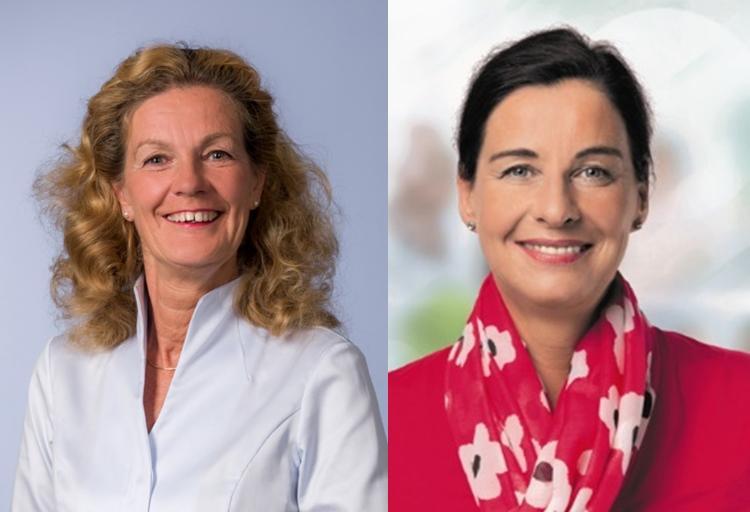 Elisabeth Heister-Neumann (links) und Veronika Koch, MdL (rechts) kommentieren den SPD-Mitgliederentscheid.