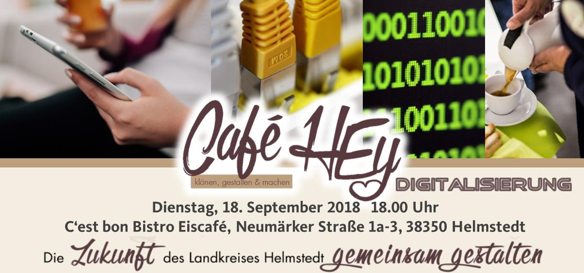 Cafe HEy Digitalisierung am 18.09.18 in Helmstedt