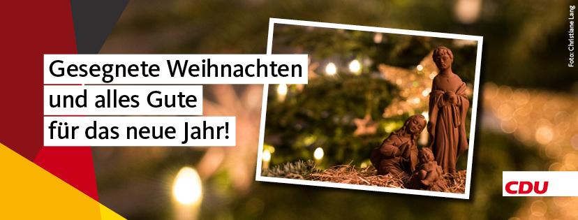 Gesegnetes Weihachten und ein glückliches neues Jahr wünscht die CDU im Landkreis Helmstedt.