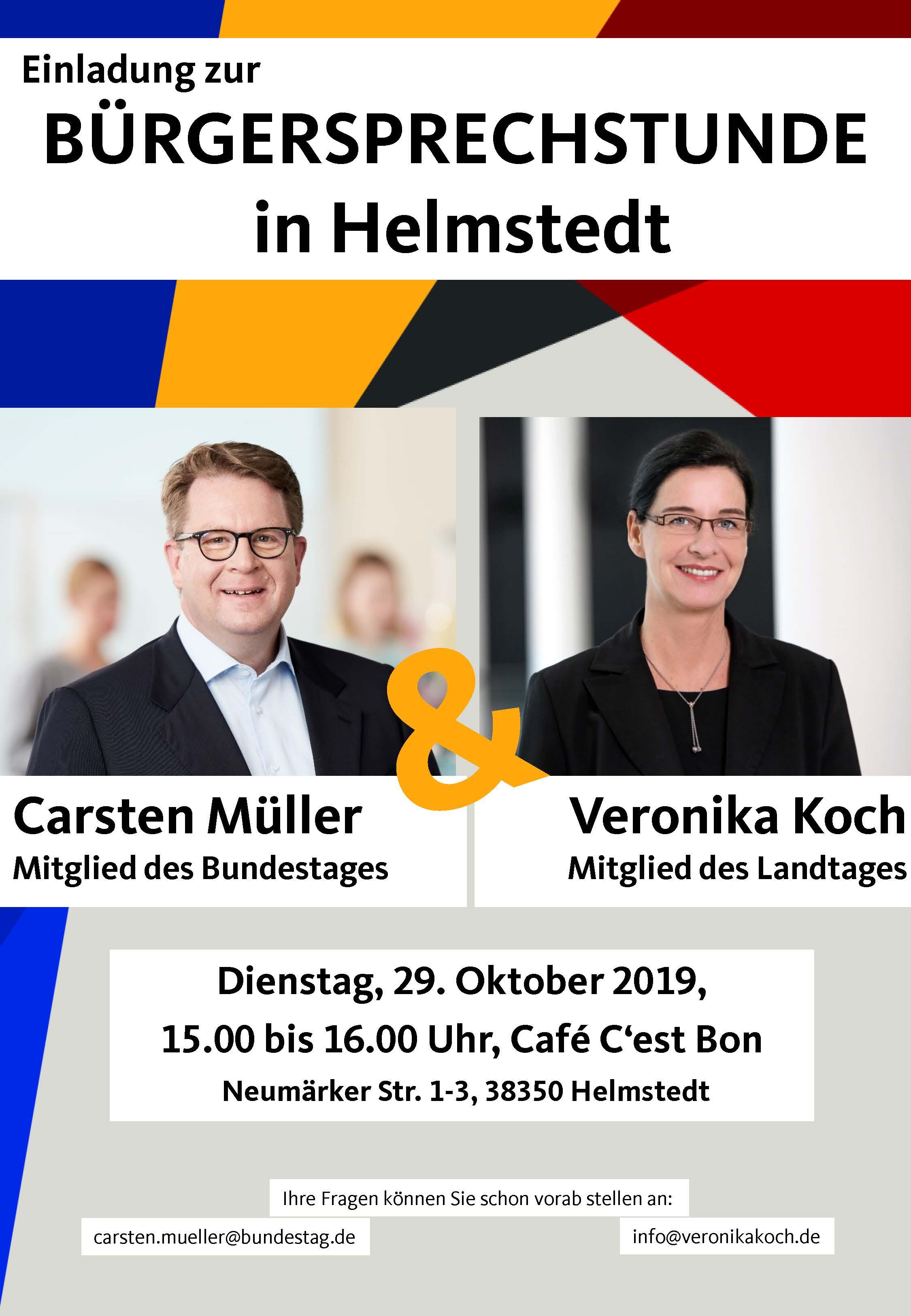 Veronika Koch (MdL), Carsten Müller (MdB)