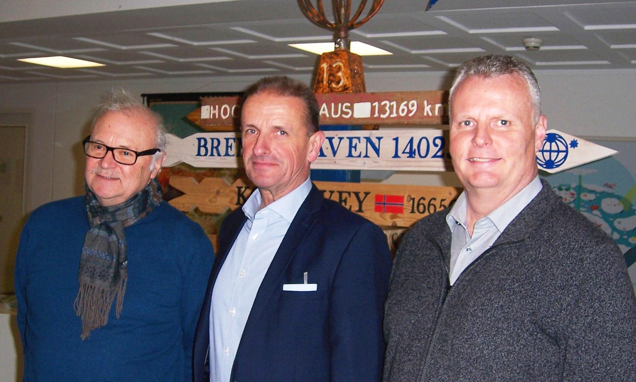 Günter Merkle (v.l.n.r.) mit Regionalverbandsdirektor Hennig Brandes und Volker Meier informierten sich beim Alfred-Wegener-Institut in Bremerhaven zum Klimawandel