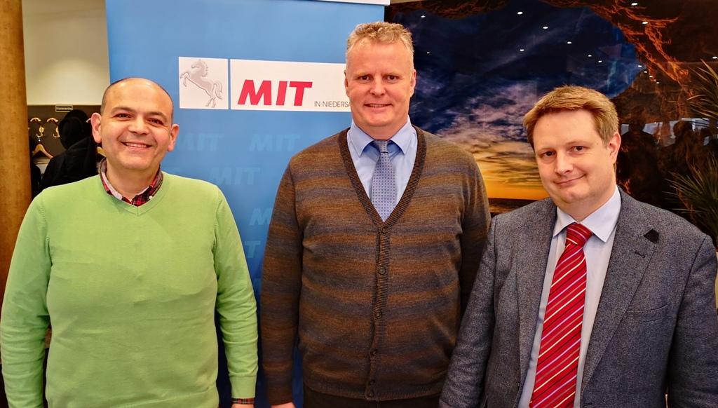 Der neue MIT-Vorstand (v.l.n.r.): Bassam Matar (Stellvertretender Vorsitzender), Volker Meier (Vorsitzender), Ronald Kandel (Schaftführer).