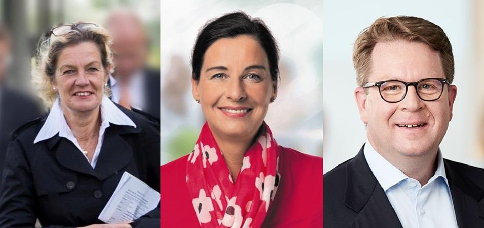 CDU Kreisvorsitzende Elisabeth Heister-Neumann, CDU Landtagsabgeordnete Veronika Koch, CDU Bundestagsabgeordneter Carsten Müller (Fotograf CDU/Jan Kopetzky)