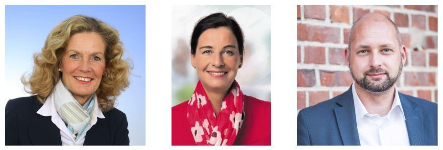 Elisabeth Heister-Neumann (CDU Kreisvorsitzende), Veronika Koch (MdL), Andreas Weber (Kandidat MdB und CDU Landesgeschäftsführer)