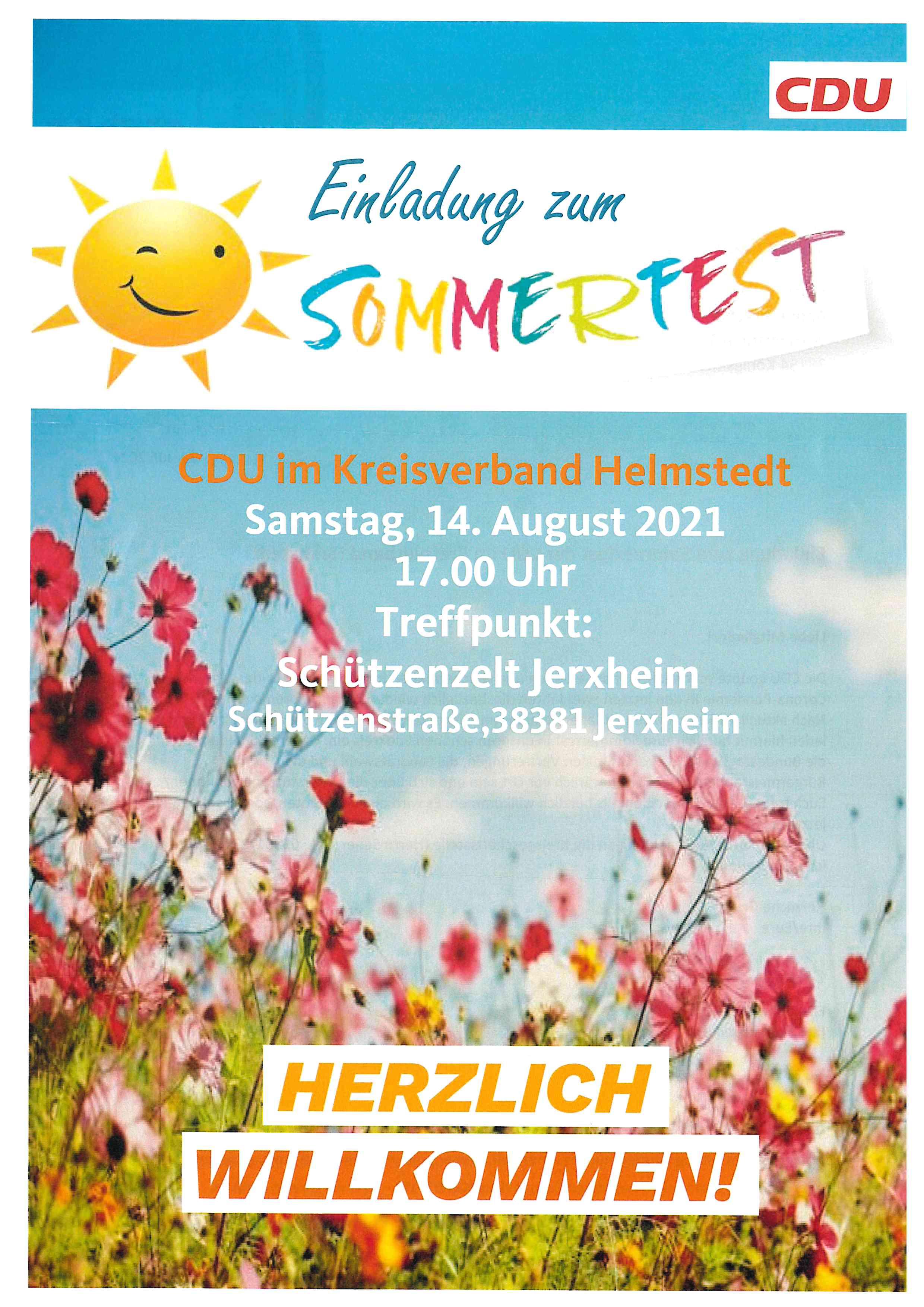 CDU Sommerfest 2021 in Jerxheim
